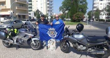 Dois botiquenses percorreram a Estrada Nacional 2 de mota